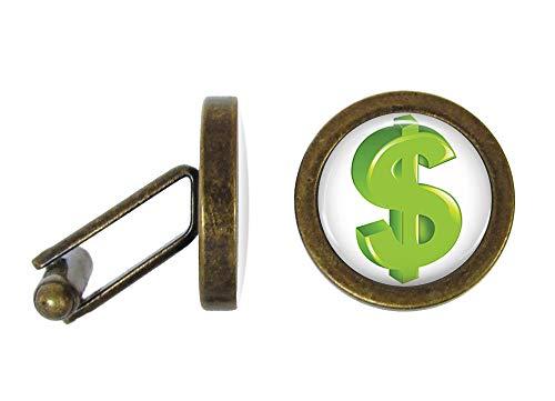 Oakmont Cufflinks Dollar Sign Cufflinks Money Cuff Links (Angled Edition)