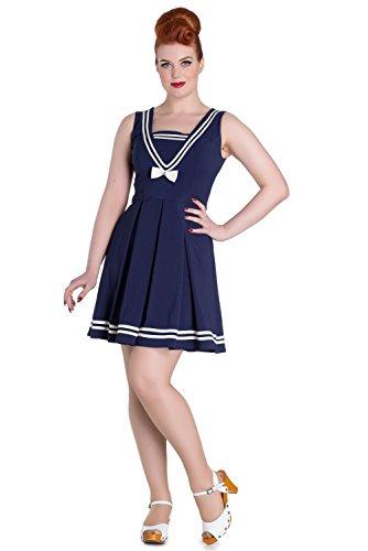 hell bunny blue sailor mini dress - 2