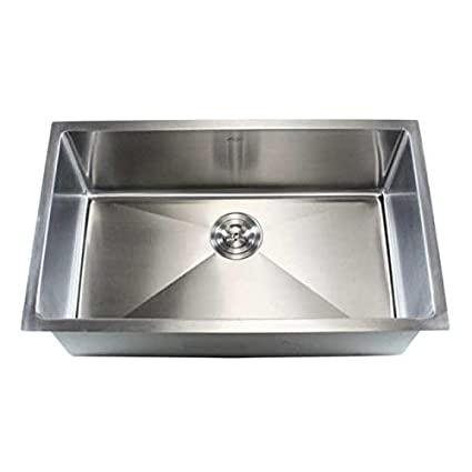 Superieur Contempo Living Inc Stainless Steel 30 Inch Single Bowl Undermount Kitchen  Sink