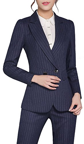 vocni-womens-casual-work-2-pieces-pinstripe-slim-fit-business-office-blazer-jacket-skirt-pants-suit-