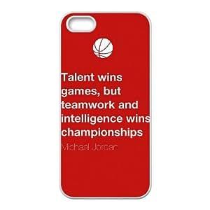 Michael Jordan iPhone 4 4s Cell Phone Case White xlb-111315