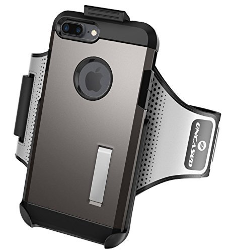 Encased Workout Armband for Spigen Tough Armor Case - iPhone 8 Plus (5.5) Sweat-Resistant Band (case is not included)