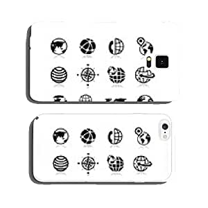 Globe earth vector icons set 10 cell phone cover case iPhone6