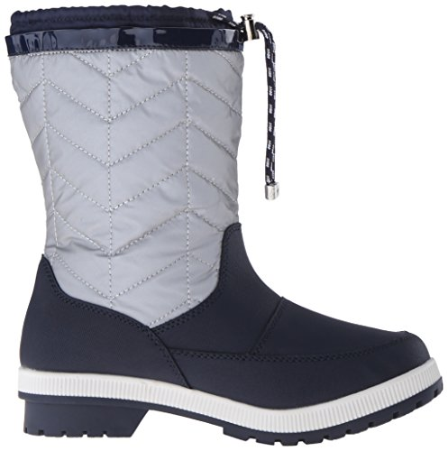Nautica Women's Becher Snow Boot, Silver/Navy, 6 M US