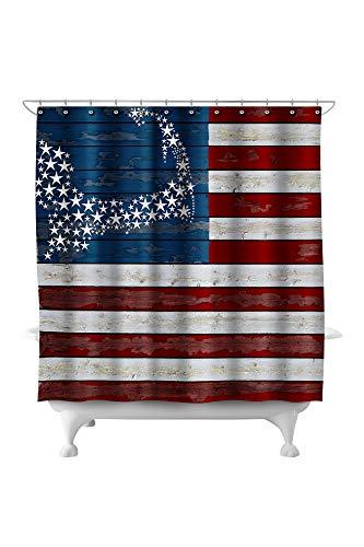 (Lantern Press Cape Cod, Massachusetts - Distressed Flag 51934 (74x74 Polyester Shower Curtain))