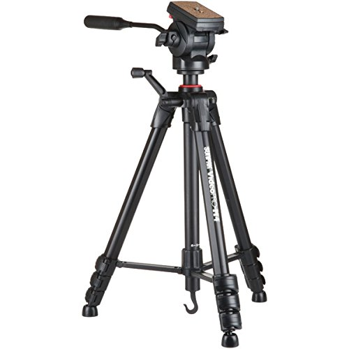 SUNPAK 620-840 Video PRO-M 4 Tripod with Fluid Head (Black)