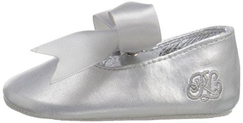Ralph Lauren Layette Briley Ballet (Infant/Toddler), Silver/Metallic, 3 M US Infant - Image 5