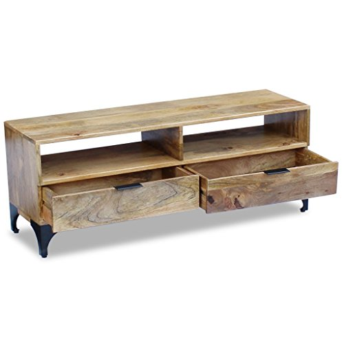 Daonanba Unique TV Stand Solid Mango Wood Stable TV for sale  Delivered anywhere in USA