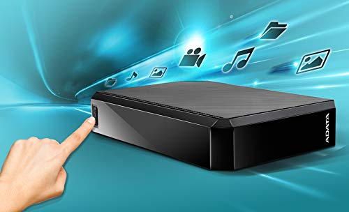 ADATA 4TB HM800 USB 3.0, Black Media External Hard Drives, AHM800-4TU32G1-CEUBK (Media External Hard Drives)