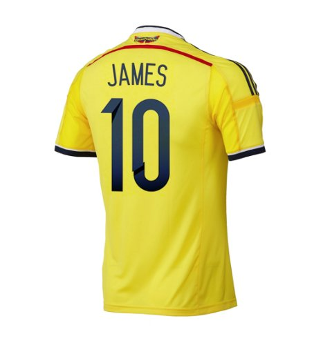1dbfe23ca low price best selection womens colombia yellow home soccer jersey shirt  for world cup 2014 free printing name number 15c9e 53a25