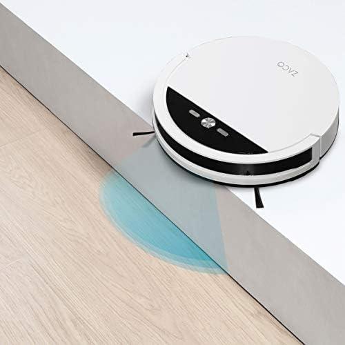 ZACO V4 – Aspirateur robot avec 4 modes de nettoyage et auto-charge – Capteurs intelligents pour poils d\'animaux – Idéal pour sols durs et tapis – Blanc perle