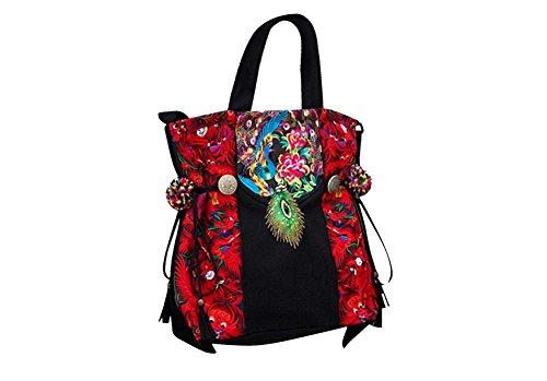 Oriental Tote Art 100 Bag Handmade 152 Fine Purse Shopper Handbag Embroidery qS0tAP