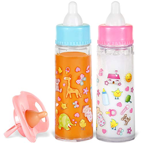 Exquisite-Buggy-My-Sweet-Baby-Disappearing-Magic-Bottles-Includes-1-Milk-1-Juice-Bottle-with-Pacifier-for-Baby-Doll-Colorful