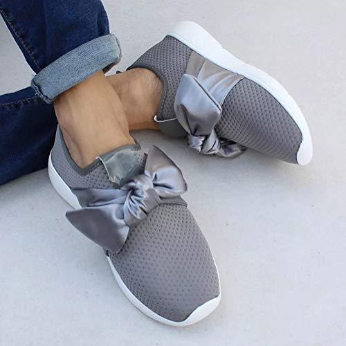 Sport Sneaker Grigio Sneakers Donna Jogging Lacci Corsa Palestra Scarpe No Ragazze Running Ginnastica IAqICw4