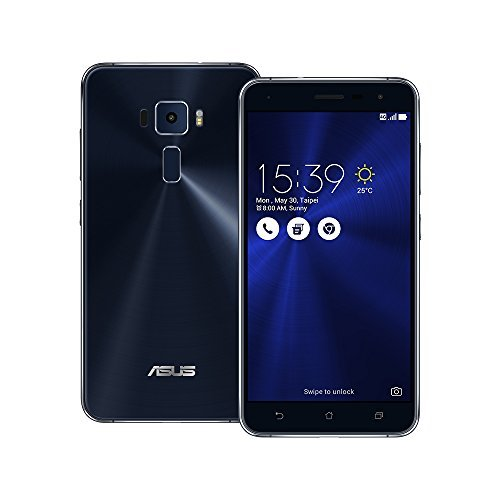 Asus ZenFone 3 ZE552KL 64GB Sapphire Black, Dual Sim, 4GB, 5.5-inch, Unlocked International Model, No Warranty