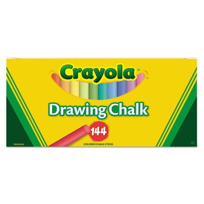 Colored Drawing Chalk, Six Each of 24 Assorted Colors, 144 Sticks/Set, Sold as 1 Set