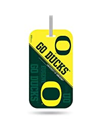 Rico Industries NCAA Etiqueta de plástico para Equipaje del Equipo, Verde, Amarillo, 7.5 by 3 by 0.5