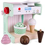 Ice Cream Maker Playset | Classic Wooden Play Food and Pretend Accessories |