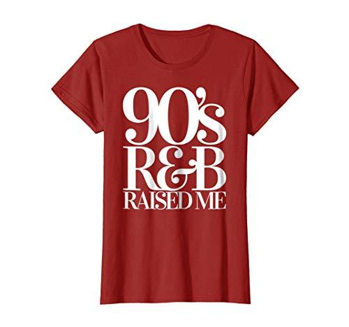 Womens Throwback Vintage RnB Classics 90's Old School R&B T Shirt Medium Cranberry by Stereobeam Hip Hop & R&B Shop