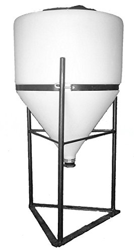 Vacuum 15 Gallon Tank (15 Gallon Full Drain Cone Bottom Inductor Tank with Steel Stand)