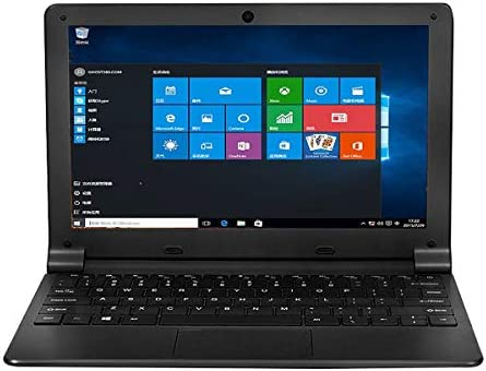 Tocosy Laptop 10.1Inch Quad Core Windows 10 HD Graphics Ultra Thin Computer PC, 2GB RAM 32GB Storage 1.92GHZ USB 2.0 WiFi Bluetooth HDMI IPS Display Notebook (Black)