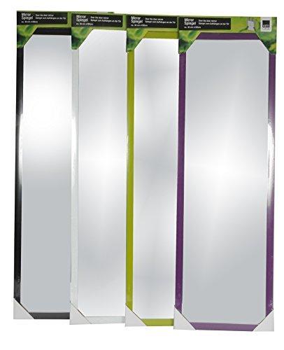Wand- und Tür Spiegel Wandspiegel Türspiegel Hängespiegel Rahmenspiegel Garderobenspiegel (Schwarz)