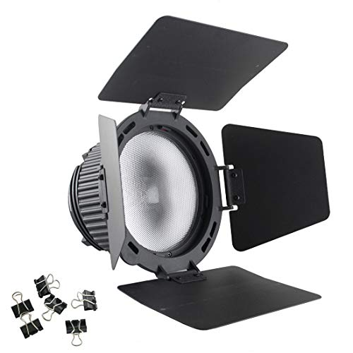 EXMAX CN-18X Fresnel Lens Focusing Adapter Lens kit Photography Studio Rotating Focusing Lens with Barn Door Compatible with Nanguang CN-P100WA Photography Bowens-fit Spotlight (Spotlight Fresnel)