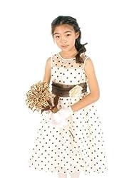 Kids Dream Lovely Organza Polka Dots Flower Girl Dress-Pale Mint-4