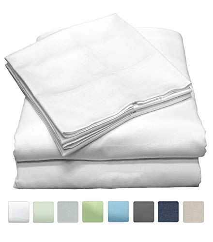 Callista Full Size Bedding Sets |Extra Soft Sateen|Deep Pocket Wrinkle Free Full Sheets | 600 Thread Count Easy Fit, Breathable and Cooling Sheets |Luxury 4 Pc Full Bed Set - -