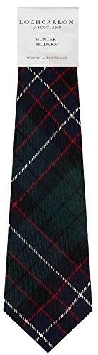 Handmade Tartan Tie Necktie Scottish Hunter Pure Modern Clan Wool n1vwqO01x