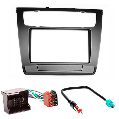 CARAV 11  –   481  –   4  di 7  mascherina per autoradio Car 2  DIN In dash Installation Kit Set ISO and Antenna Adapter Cable 11-481-4-7