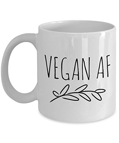 Vegan AF Mug Vegan Coffee Mug Vegan Tea Mug Funny Vegan Cofee Mug Vegan Gag Gifts 11 oz Cup