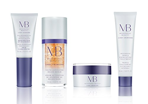 Meaningful Beauty - Anti-Aging Daily Skincare System - for Smoothing, Even Skin Tone & Radiance - 4 Piece/Travel Size - MT.2110
