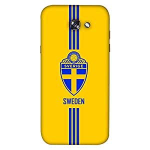 ColorKing Samsung A3 2017 Football Yellow Case shell cover - Fifa Sweden 01