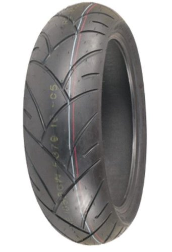 Shinko Smoke Bomb Rear Tire - 190/50ZR-17/Red