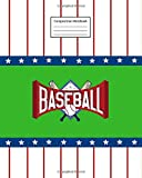 "Composition Notebook: Baseball | 8"" x 10"" 