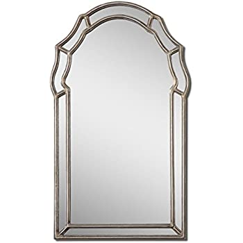 Amazon Com Extra Wide Silver Shaped Arch Mirror