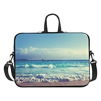 58c849f44e5a Amazon.com: InterestPrint Nice Sunset Over Sea Beach Shoulder Strap ...