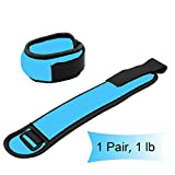 Wesoke Durable Ankle/Wrist Weights, Adjustable Straps, Mini Hand Leg Arm Cuff Weight Set for Women Men Kids Children Fitness Dancing Exercise Gym Workouts Aerobics (1 Pair, 1lb 2lb)