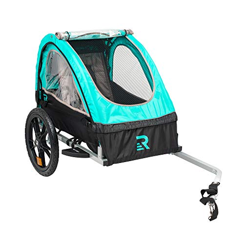 - Retrospec Rover Kids Bicycle Trailer Single and Double Passenger Children's Foldable Tow Behind Bike Trailer with 16