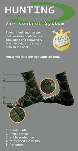 Sesto Senso Chaussette Hommes Camouflage Coton 1 ou 2 paires Camo Militaire Randonnée Plein Air Sports HUNTING 3