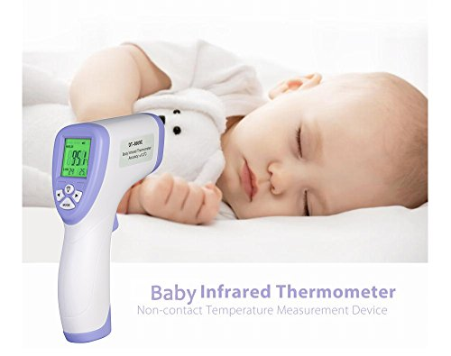 Youlanda Digital Forehead Thermometer, Non-contact Infrared for Body, Surface and Room Measurement with Large LCD Display