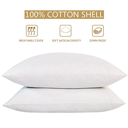 Peace Nest - Goose Feather And Down Pillows, 100% Cotton Cov