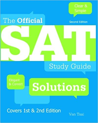 Book The Official SAT Study Guide 2nd Edition Solutions