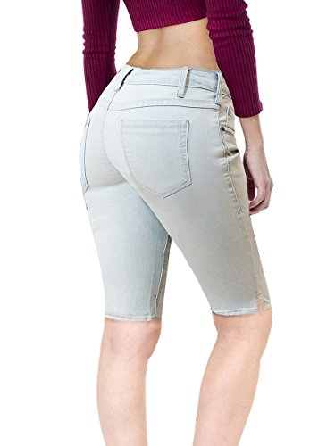 - HyBrid & Company Women's Stretchy Denim Bermuda Short B22888 Bleach 13
