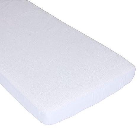 Bolí n Boló n 1430801019280 - Bajera de rizo/plá stico para cuna, 130 x 80 x 22 cm, color blanco ArteMur 1.4308E+12