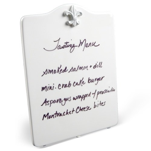 Place Tile Designs Dry-erase Ceramic Fleur de Lis MessageTile Message ()