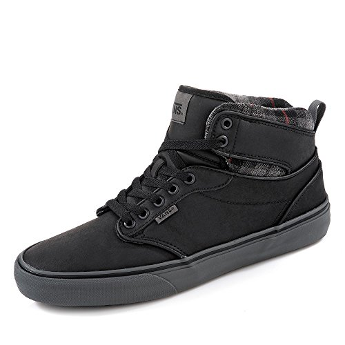Vans Hi Flannel Atwood High Top Black Herren Bunge PP1raR