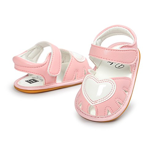 (Antheron Baby Girls Boys Summer Sandals Soft Rubber Sole Non-Slip Outdoor Toddler First Walker Shoes(Pink,3-6Month) )