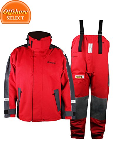 Navis Marine Men's Sailing Jacket With Bib Brace Trousers Rain Suit Watersports Apparel Offshore Rain Gear